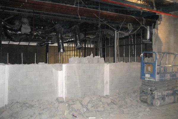 Demolition Concrete Wall : Bakas building retail fitouts shop office